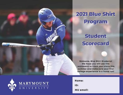 Blue Shirt Program Scorecard Page 1
