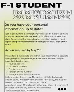 Marymount University Immigration Alerts