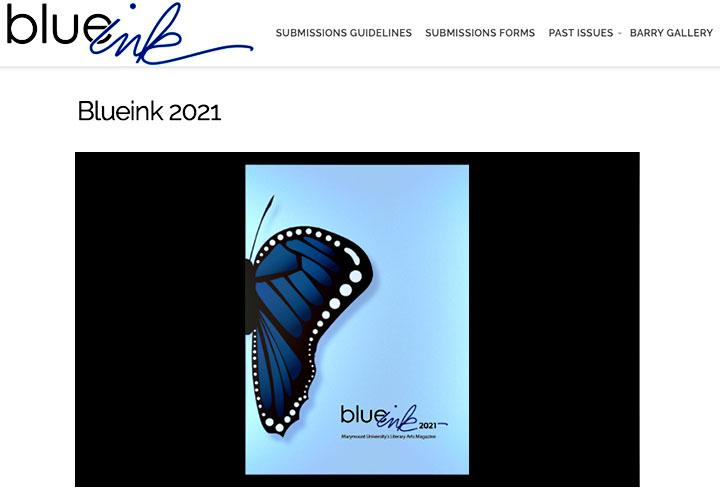 BlueInk Student literary arts magazine