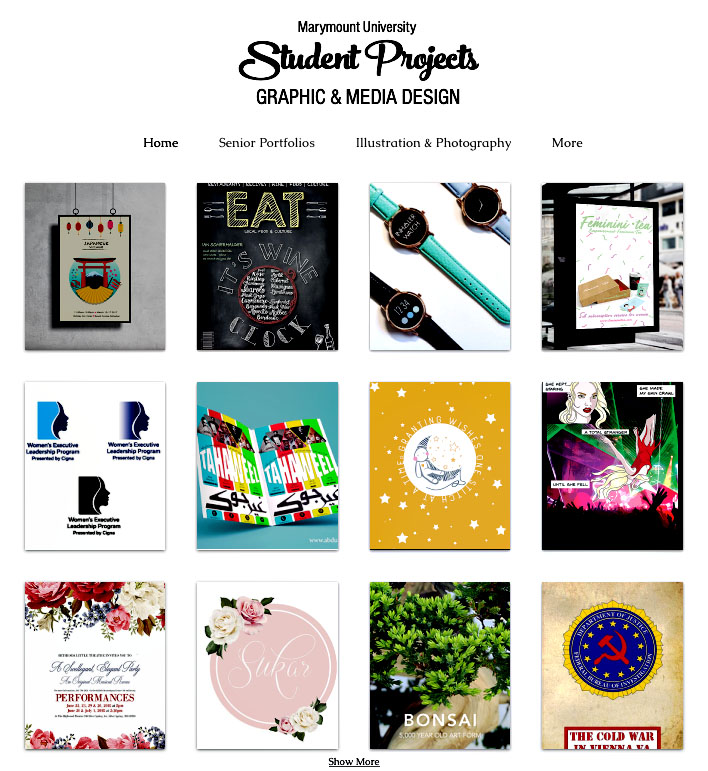 Student Work & Research in Graphic and Media Design