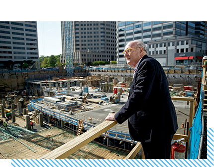 The Ballston building is razed and construction begins