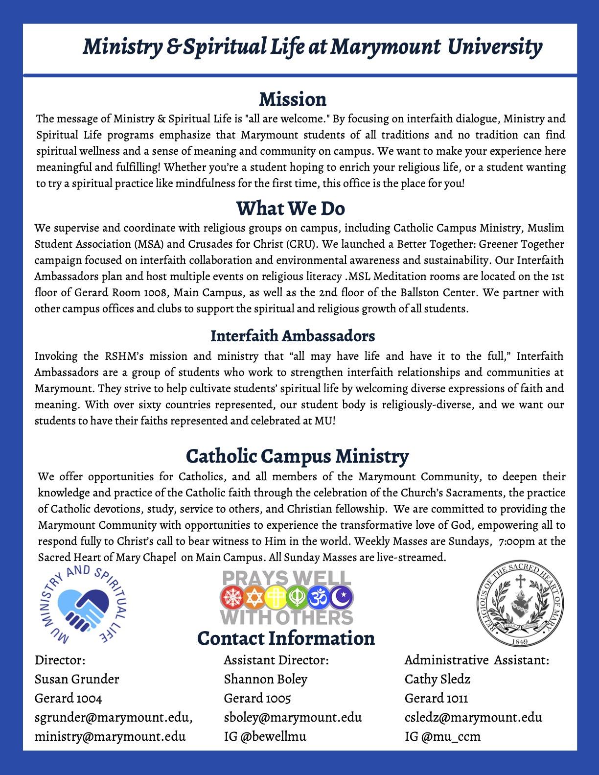 Religious & Spiritual Life on Campus