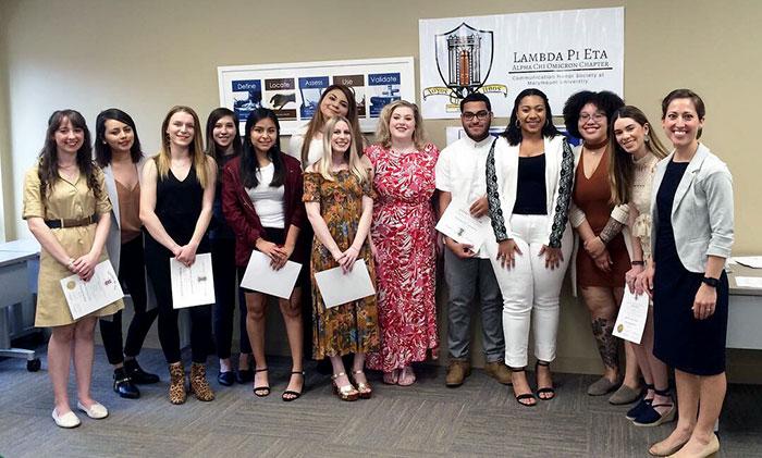 Lambda Pi Eta chapter wins Rookie Chapter of the Year, Rookie Advisor of the Year awards