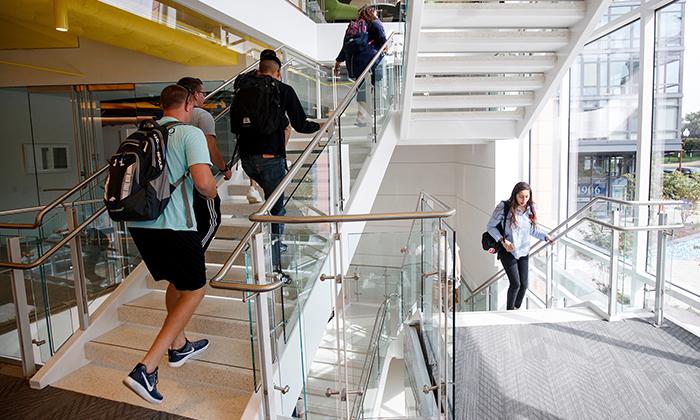 Students at Ballston Campus Photo