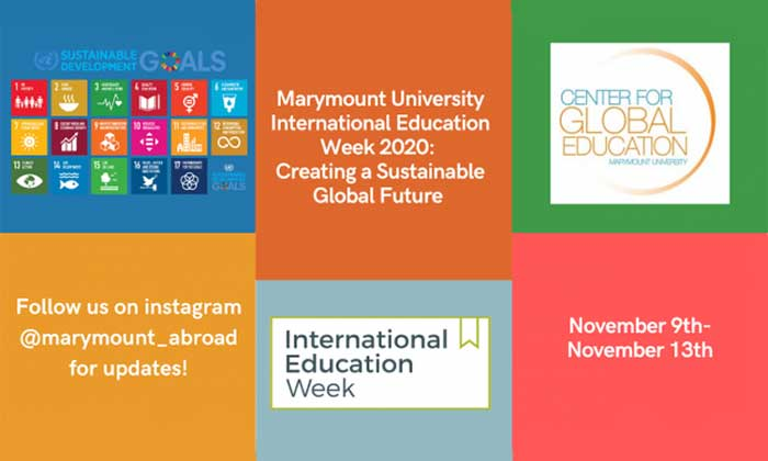 Marymount celebrates International Education Week with a focus on the United Nations Sustainable Development Goals