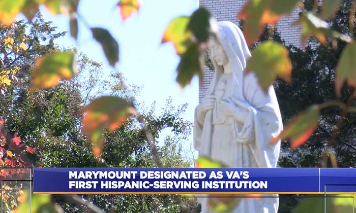 WDVM: <em>Marymount University first in state to be designated as Hispanic-serving</em>