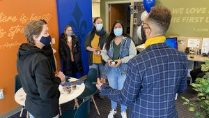 Marymount students tour the new Diversity, Equity & Inclusion Center
