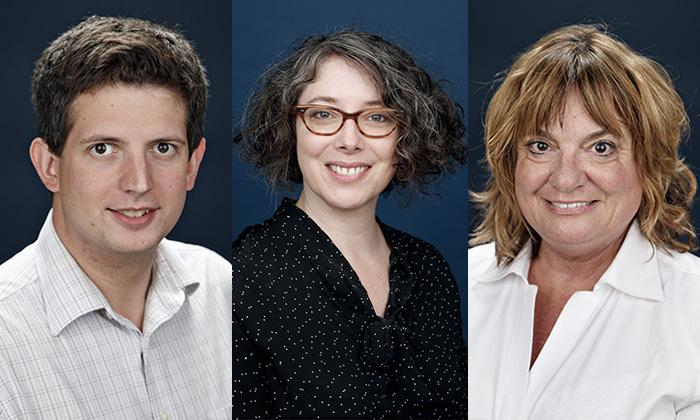 Headshot photos of Dr. Matt Shadle, Dr. Tonya-Marie Howe and Dr. Donna Schaeffer