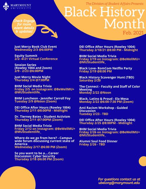 Black History Month programming