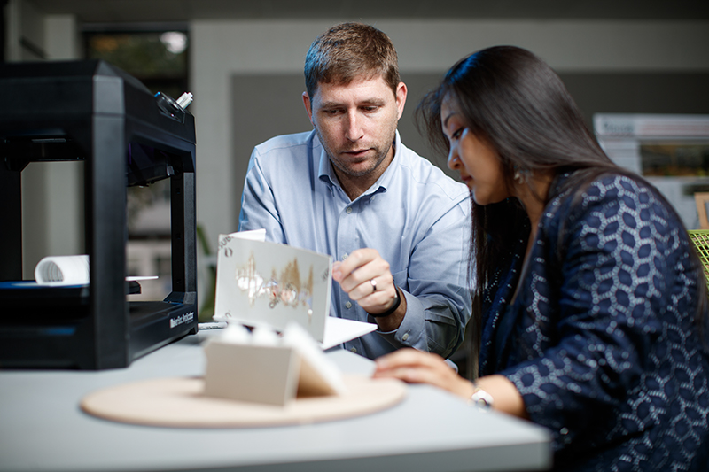 Marymount University interior design class photo