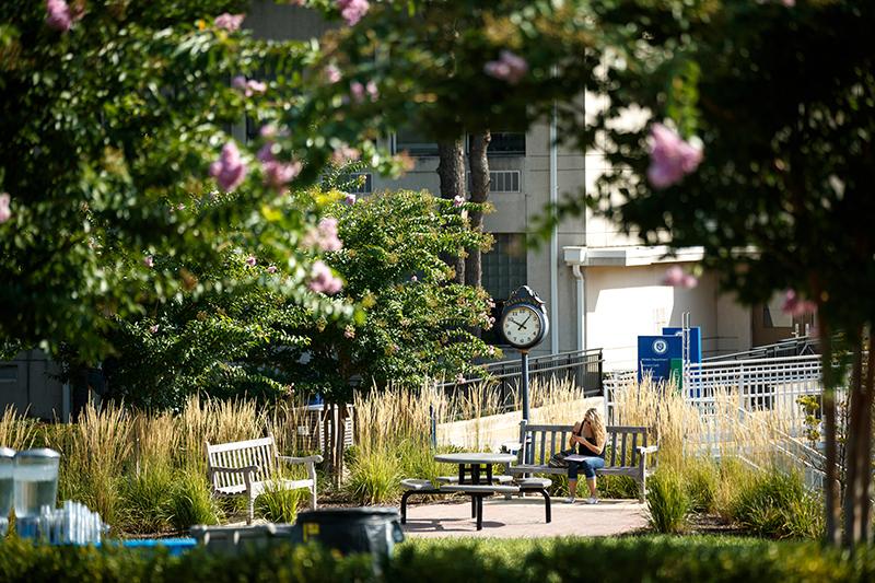 Marymount University outdoor seating areas photo
