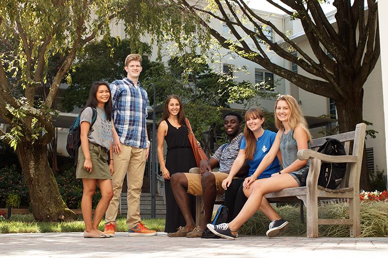Marymount University Students smiling photo