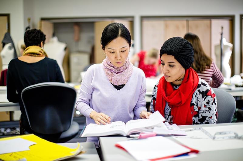 Marymount University fashion design students photo
