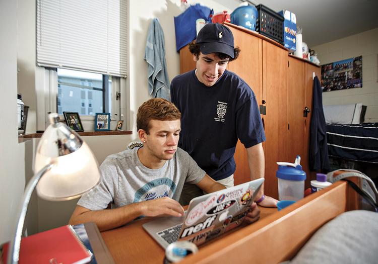 Marymount University Students studying photo