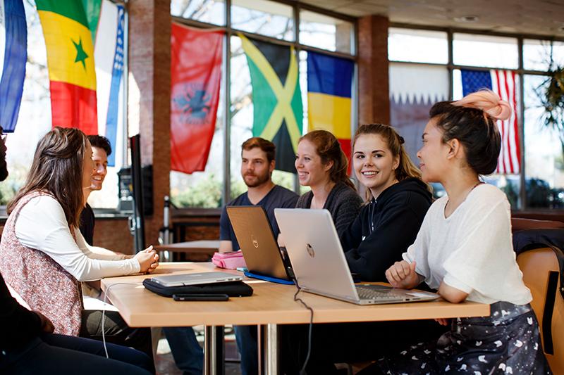 Marymount University Students in class photo