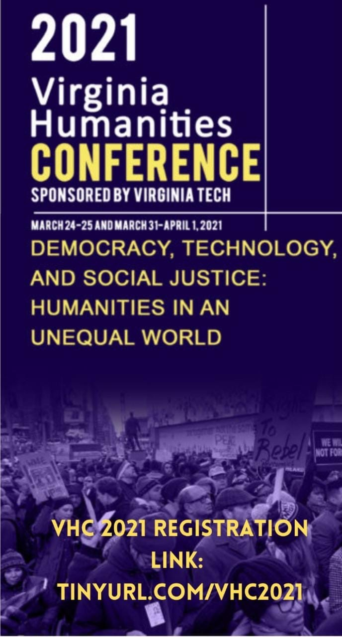 Poster for the 2021 Virginia Humanities Conference