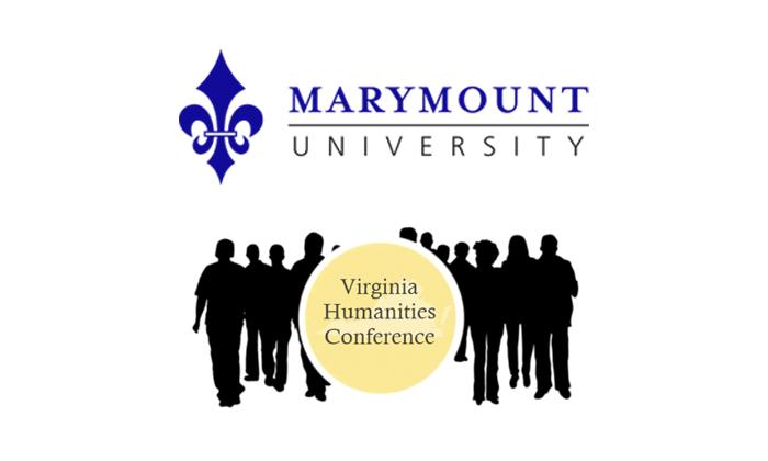 Marymount University logo beside the Virginia Humanities Conference logo