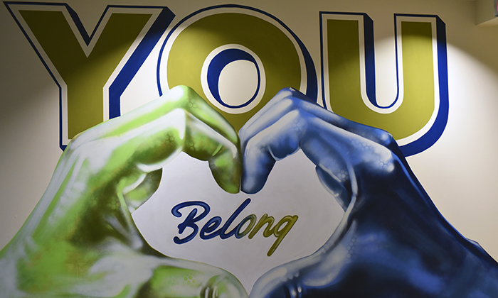 You Belong Here mural at Marymount University