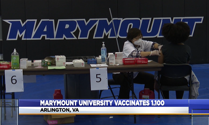 COVID-19 vaccine clinic at Marymount