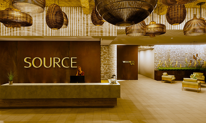 Swaner's concept for Source Wellness & Day Spa.