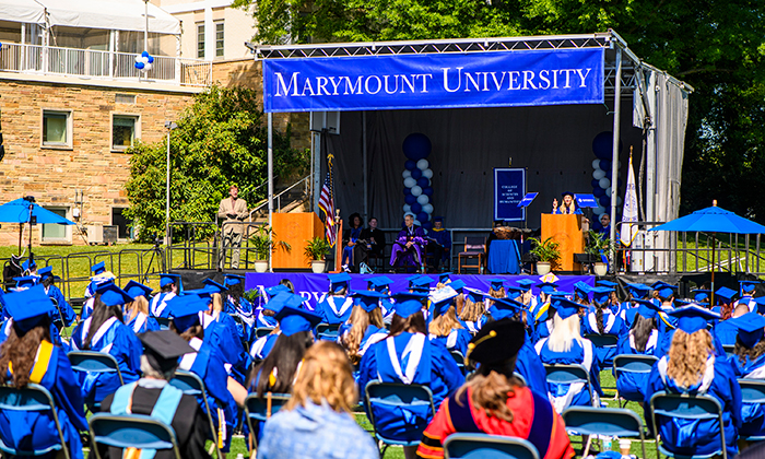 A view of Marymount University's Commencement Ceremony for the College of Sciences and Humanities