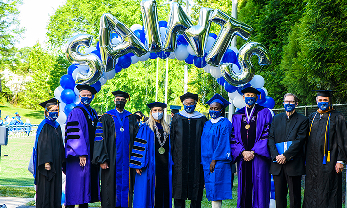 Marymount University administrators and dignitaries during the 2021 Commencement Ceremonies