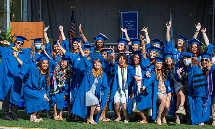 Graduates of Marymount University's College of Health and Education celebrate their achievements