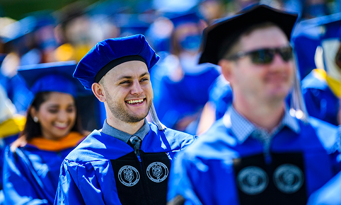 Members of Marymount University's Class of 2021 during the Commencement Ceremonies