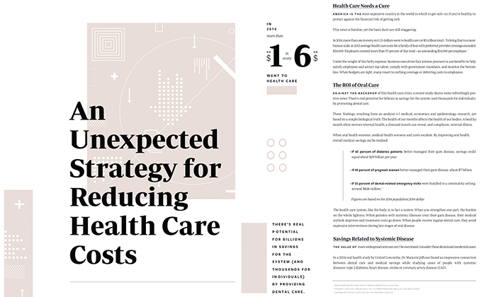 """A portion of Dr. Kelekar's publish work, """"An Unexpected Strategy for Reducing Health Care Costs."""""""