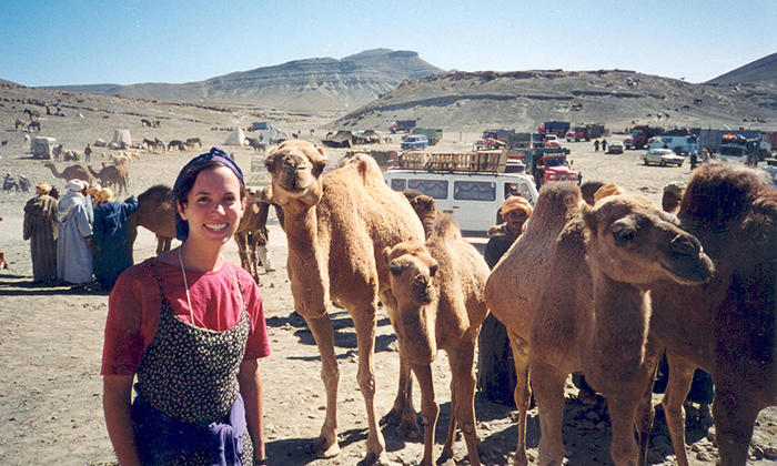 Dr. Elizabeth Langran during her time in Morocco with the Peace Corps