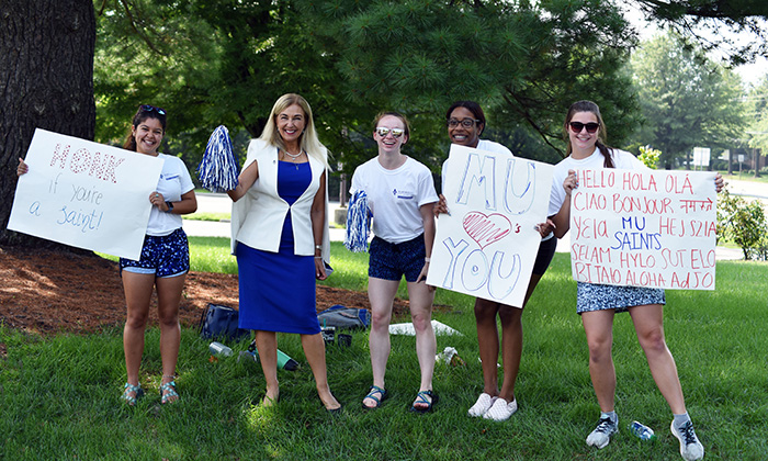 Marymount University's Fall 2021 Welcome Week brings all students back to campus