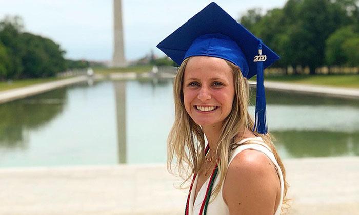 Marymount alumna Courtney Stephens, recipient of a prestigious Phi Kappa Phi Fellowship