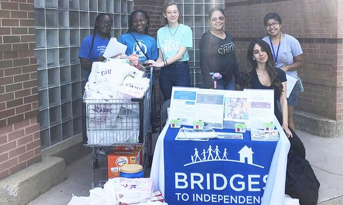 Kristen Netter, AmeriCorps Program Member at Marymount, volunteers for the nonprofit Bridges to Independence