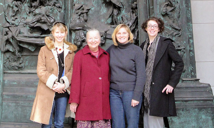 Dr. Lillian Bisson with Dr. Holly Karapetkova, Dr. Marguerite Rippy and Dr. Tonya-Marie Howe