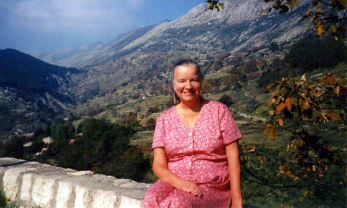 Dr. Lillian Bisson while traveling