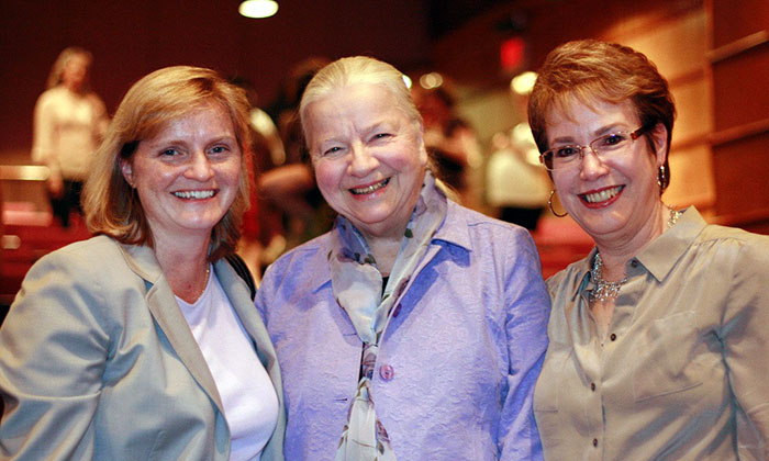 Dr. Lillian Bisson, center, at Marymount University